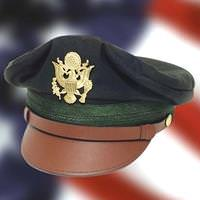 US WWII Army Officer's Crush Cap Green
