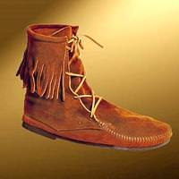Low Boots with Fringe