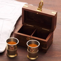 Captain's Cups w/ Storage Box