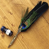Genuine Feather Quill Pen with Ink