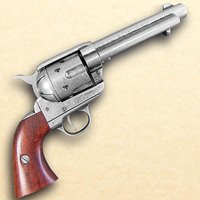 1873 .45 Caliber Revolver Black Finish
