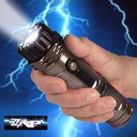 1,000,000 Volt ZAP Stun Gun w/ Flashlight & Rechargable Batteries