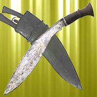 Longleaf Traditional Kukri w/ Old Scabbard, 2 Knives