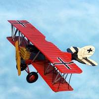 WWI German Fighter Plane Tin Toy Replica