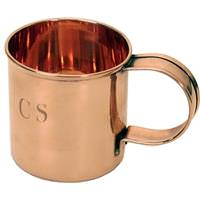 Solid Copper CS Coffee Mug